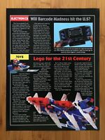 1993 Lego Toys / Barcode Battler / Turok Article Page Print Ad/Poster Official