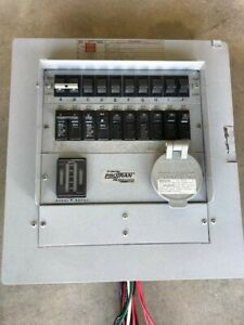 Reliance Controls 50-Amp 10-Circuit Manual Transfer Switch, with lead wires