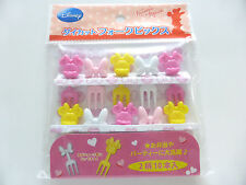 Brand New!! Disney Minnie Mouse Food Fork Picks Bento Accessories Cute!!