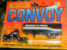 1983 Matchbox Convoy CY9 Kenworth Conventional Box Truck Midnight Express MOC