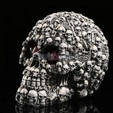 LED Homosapiens Skull Statue Figurine Human Skeleton Head Halloween Decor #1