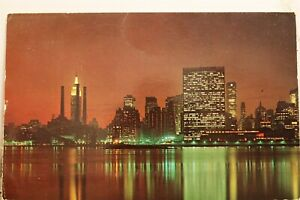 United Nations UN Empire State Building East River Postcard Old Vintage Card PC