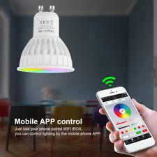 Neu Milight Wireless E27 GU10 4W LED Licht RGB + CCT Birnenlampe Glühbirne Dekor