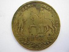 Germany, Esther and Haman brass Jeton c1590 by Hans Krauwinkel.