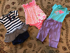 Baby Girl 12 Months Carters First Impressions And Gerber Outfits Lot 5 Pieces