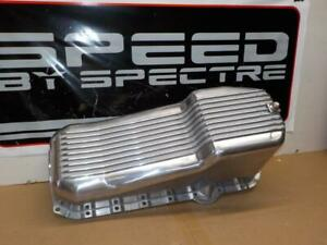 Spectre #4988 SMALL BLOCK CHEVY OIL PAN ~Finned, Polished Aluminum<>SBC V8