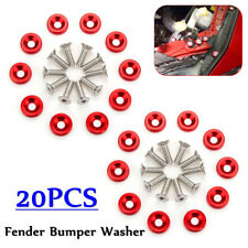 20X Red JDM Rear Billet Aluminum Fender/Bumper Washer/Bolt Engine Dress Up Kits