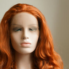"""AU STOCK 24"""" Copper Red Lace Front Wig Heat Resistant Synthetic Hair Body Wavy"""