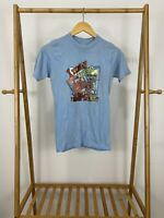 VTG 80s I May Rise But I Refuse To Shine Blue Thin T-Shirt Size S USA
