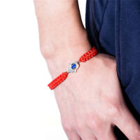 Handgemachte geflochtene Seil Armband Thread Blue Eye Red String Armband Chic AB
