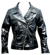 Brando Women Leather Jacket Motorcycle Fashion Fitted Biker Soft Ladies Jacket