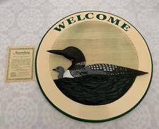 Welcome Sign W/Nest Loons Big Sky Carvers Meissenburg Designs Sign G Vincent