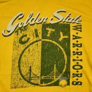 GOLDEN STATE WARRIORS NBA MITCHELL & NESS Gold/Yelllow VINTAGE STYLE XXL T-SHIRT