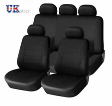 FULL BLACK CAR SEAT COVER SET FOR NISSAN JUKE PRIMERA QASHQAI  PIPING LOW BACK