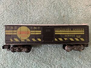 American Flyer #25057 TNT Danger Exploding Operating boxcar knuckle SCARCE 1960