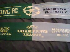 CELTIC MAN CITY OFFICIAL CHAMPIONS LEAGUE SCARF fc manchester glasgow NEW