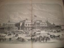 Ireland Dublin International Exhibition East Front and Winter Gardens 1865 print