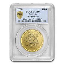 2000 1 oz Gold Lunar Year of the Dragon MS-69 PCGS (Series I) - SKU #82539