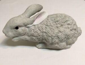 """Bisque Porcelain 10"""" Bunny Rabbit Dept.56 Easter Decor Nice Vintage Figurine"""