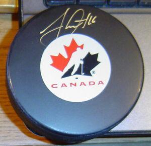 JONATHAN TOEWS Autographed Signed CANADA HOCKEY PUCK Frameworth COA