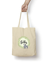 Zebra Tote Bag PERSONALISED Quality Natural Cotton Shopper Animal Cute Gift