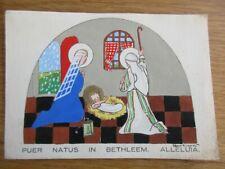 IMAGE PIEUSE ANDACHTSBILD SANTINO CARTE PEINTE A LA MAIN BETHLEEM