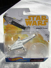 STAR WARS HAN SOLO HOT WHEELS STARSHIPS IMPERIAL ARRESTOR CRUISER w/ STAND NIP!