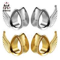 Fashion Water Wings Ear Gauges and Ear Tunnels Body Piercing Ear Plugs 2pcs Gift
