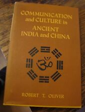Communication and Culture In Ancient India And China Oliver 1971 Free US Shippin