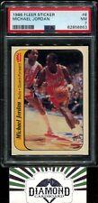 1986 Fleer Sticker #8 Michael Jordan ROOKIE PSA 7 NM  HOF RC