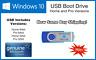 Microsoft Windows 10 Pro/Home 64/32bit USB Boot Drive INSTALL REPAIR RECOVER PC