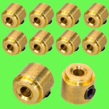 ► 10 Stück 2mm Stellring Stellringe Messing incl Madenschraube Sechskant Messing