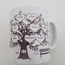 Personalizzata Family Tree TAZZA. ANNIVERSARIO. le Madri Giorno Compleanno Bomboniera Cup