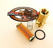 """Fuel Inlet Fitting Kit 7/8 - 20 2"""" Olds Pontiac Buick Rochester Quadrajet Carb"""