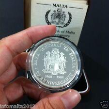 1988 Malta 20th Anniv Bank Of Malta Silver Proof Coin Box And Certificate #0550