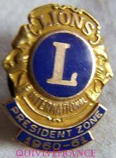 BG5758 - insigne  LIONS CLUB PRESIDENT ZONE 1960-1961 - 10K GOLD FILLED