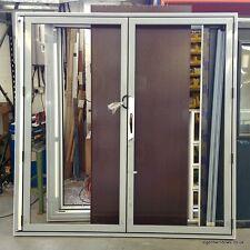 Stock Aluminium Bi folding Fold Sliding Patio Doors cw Internal Blinds in glass