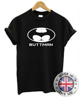 "Batman ""Buttman"" T Shirt S-XXL Joke Funny Rude Comic"