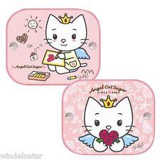 Auto Sonnenschutz Sonnenblende Scheibe Seite Angel Cat Sugar Kfz 1 Set  2 Stück