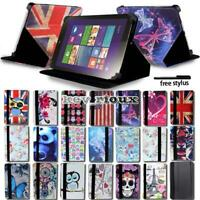 """Leather Stand Folio Cover Case For Various 7"""" 8"""" 10.1"""" Lenovo Tablet + Stylus"""