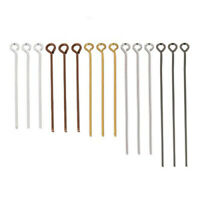 Wholesale 100pcs Stainless Steel Heads Eye Round Head Pin For Accessories Making