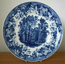 Wedgwood - Queen's Ware - Gothic Ruins - Blue and White - Collectors Plate 23 cm