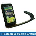 Noir Housse Cuir PU pour Samsung Galaxy S i9000 Android Portable Etui Coque Case