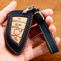 For BMW X1 X4 X5 X6 X7 5 7 Series GT Leather Car Key Fob Case Holder Cover Bag