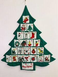 fabric christmas calendar Christmas tree