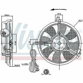 Nissens 85519 Fan A/C condenser For Audi Ford Seat VW