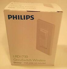 Philips LRD1730 OccuSwitch Wireless Dimmer Occupancy Sensor Wall Switch - White