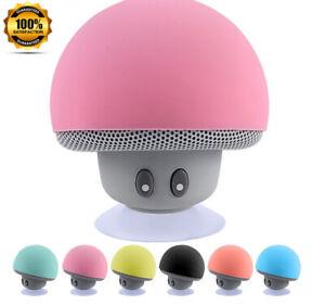 Bluetooth Speaker Mushroom Mini Portable Wireless Waterproof Stereo Bass Cute