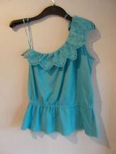 One Shoulder Cotton Waist Length Tops & Shirts for Women