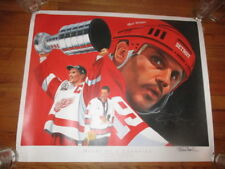DETROIT RED WINGS Steve Yzerman Signed Poster Heart Of A Champion KEN TAYLOR NM